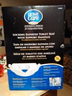 Brand New Moen Home Care Locking Elevated Toilet Seat With Support Handles