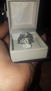 Promise and engagement ring