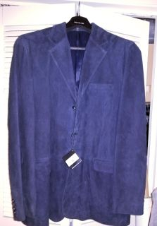 Very Nice Dark Navey Blue Suede Jacket. NWT Bought for $500.00 Dress your Man in Style.