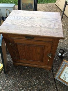Wooden Ice Chest end table