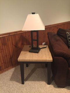 2 lamp and lamp table sets
