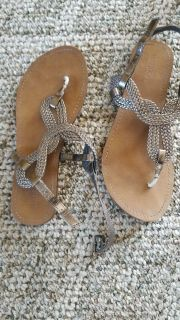 Size 6 silver Sandals