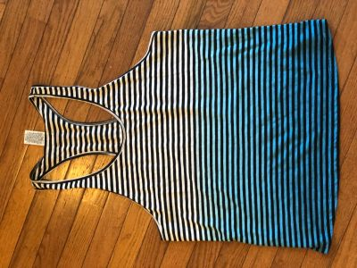 VS Pink stripe ombr racerback tank size medium
