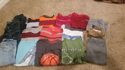 Boys size 7 longs sleeved tshirts and pants