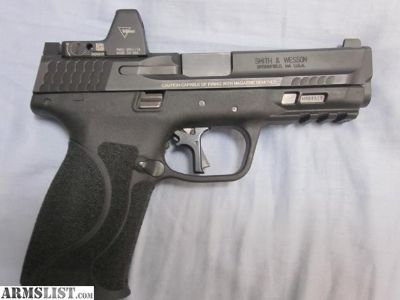 For Sale: M&P 2.0 9MM WITH APEX FSS TRIGGER KIT AND TYPE 2 TRIJICON RMR 3.25 MOA DOT
