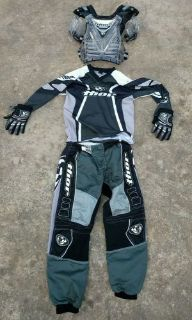 Purchase THOR Racing PHASE 2.0 MENS 26 Black Gray Motocross Riding PANTS,GLOVES,JERSEY motorcycle in Spring Branch, Texas, United States, for US $99.99