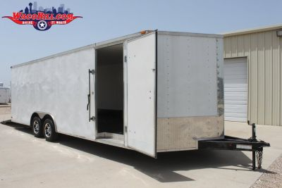 USED 24'ft. Lark Enclosed Car Trailer 110V Package!