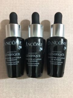 SET OF 3 DELUXE SAMPLE SIZE LANC ME GENEFIQUE YOUTH ACTIVATING SERUM