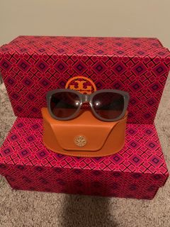 Tory Burch Reva Square Cat-Eye Sunglasses