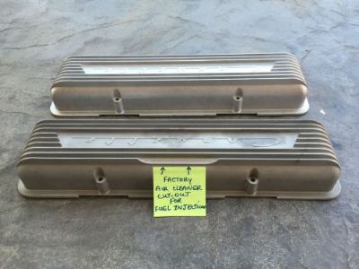 Buy 1957 CORVETTE ALUMINUM 9-FIN VALVE COVERS ROCHESTER FUEL INJECTION FI motorcycle in Granada Hills, California, United States, for US $595.00