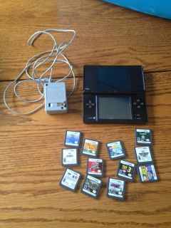 Black Nintendo 2DS with 12 games