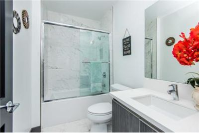 Pre lease your stunning brand new town home! 1 Bed 1. 5 bath Roof deck reserved parking