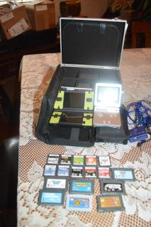 Nintendo DS with Games and Cases