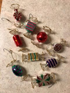 Adorable delicate glass candy ornaments