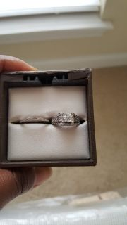 1 1/4ct white gold princess cut ring and band
