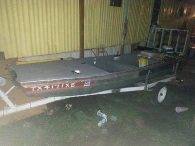 14 ft jon boat with 15hp evinrude