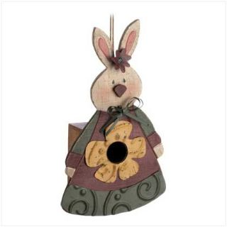 Designer Birdhouse: Country Bunny 12585 New
