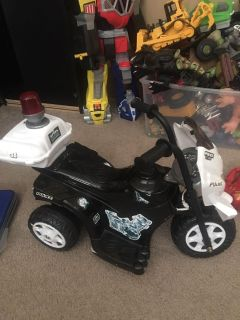 Toddler Police Motorcycle