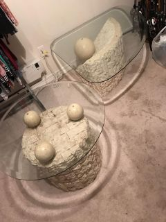 Glass Coffee Table End Table