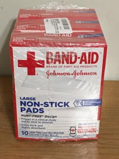 3 Boxes Band-Aid Brand Large Non-Stick Adhesive Bandage 3-Inch x 4-Inch Pads