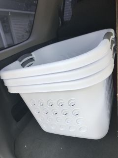 3 Brand new laundry baskets never been used.