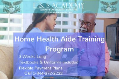 Certified Home Health Aide training will start this month and the certification program lasts only 3