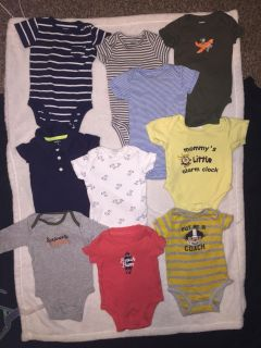 BOYS 3 MONTH ONESIES $15 for 13!