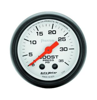 "Purchase Auto Meter 5704 Phantom 2 1/16"" Mechanical Boost Gauge 0-35 PSI motorcycle in Greenville, Wisconsin, US, for US $76.97"