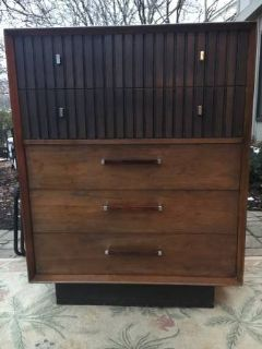 Lane Mid Century Modern Highboy Dresser