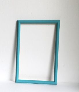 PICTURE FRAME PAINTED TURQUOISE
