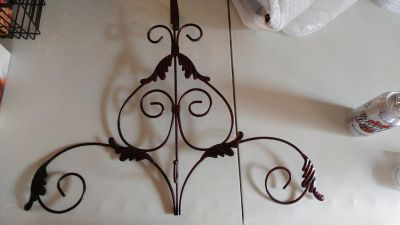 """Ornamental Over-the-door Wreath Hanger - Use Year Round - 22.5"""" W x 18"""" H"""