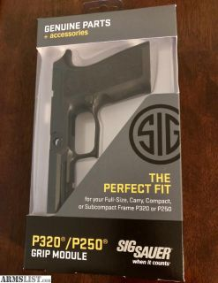 For Sale: Sig Sauer P320 X-Carry Grip Module, X-Series, Carry Size, Black, Medium, 9mm / .40 S&W / .357 Sig
