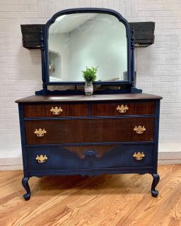Royal blue dresser or vanity