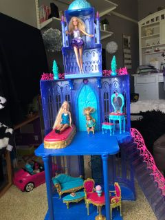 Barbie Diamond Castle(Dolls not included )