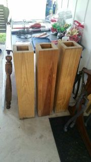 Four wood posts
