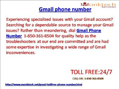 Does Gmail Phone Number Remove All the Unexpected Issues 1-850-361-8504?