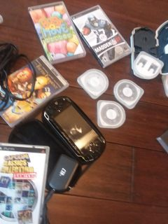 Psp console case games charger $199