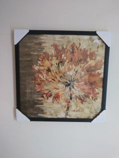 Yellow flower picture with black frame