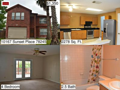 10167 Sunset Place - Home For Rent 4/2.5/2 in San Antonio, TX 78245