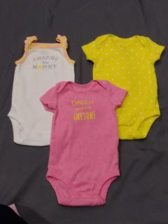 LOT of onesies size 0-3 months P/U ONLY $1 for ALL