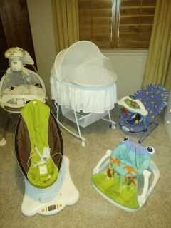 Baby items and tons of clothes