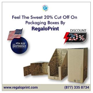 Feel The Sweet 20% Cut Off On Packaging Boxes By RegaloPrint
