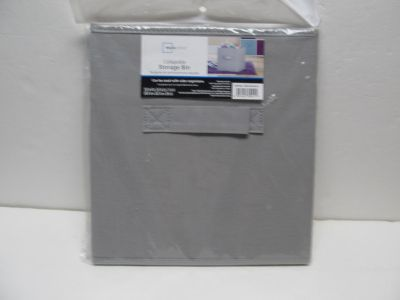 Mainstay Grey Collapsible Storage Bin New $2