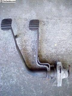 Clutch and brake pedal assembly off 66 Karmann hia