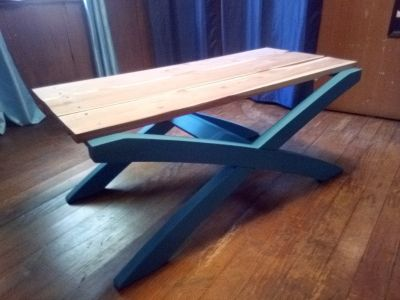Beautiful coffee table! Toped with Ceder, all solid wood! 3182770642