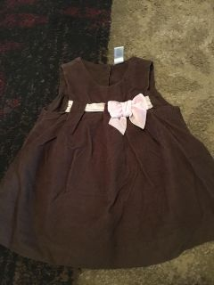 6-9m Brown corduroy dress - ppu (near old chemstrand & 29) or PU @ the Marcus Pointe Thrift Store (on W st)