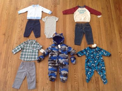 New with tags Baby Boy Clothes Lot, sizes 3 till 9 months