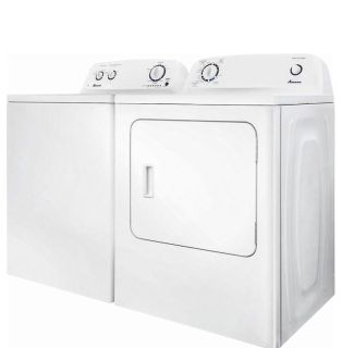 Amana 3.5 cubic feet 8 cycle washer and Amana 6.5 cubic feet 11 cycle electric dryer