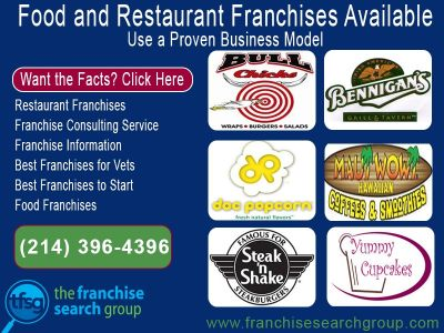 Food and Restaurant Franchises available, proven business models need local investors.