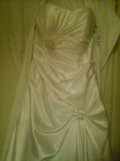 Very beautiful size 2 bridal gown  accessories, never worn